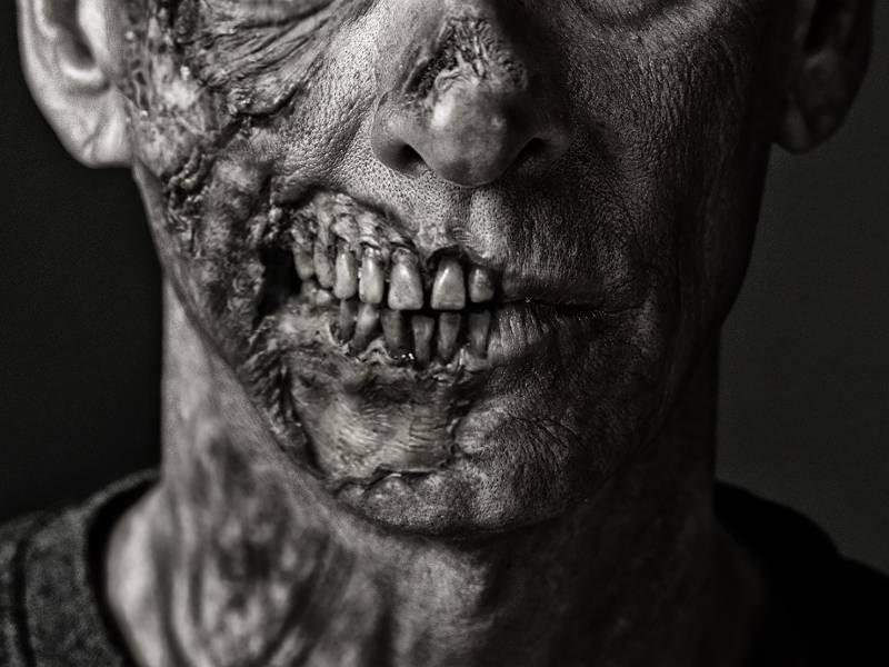 A hideous zombie